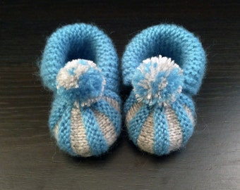 Hand knitted booties, great for little gentleman.