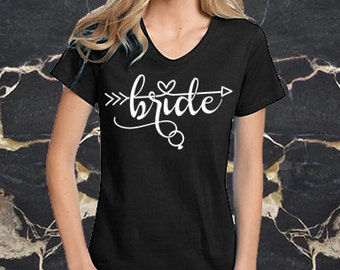 Bridal Party Shirts - Bride Tribe (Available in Black VNeck Too!)