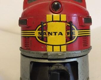 Santa Fey lionel locomotive