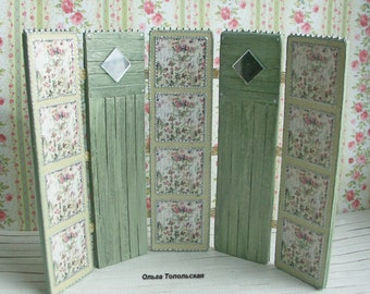 Screen for dollhouse, Screen for Roombox. Scale 1:12