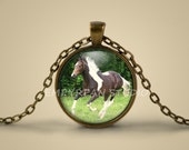 Horse Necklace, Horse Pendant, Pinto Horse, Equine Jewelry, Dressage, Equestrian, Warmblood, Jewellery, Horse Photo, Gift, Picture, Art
