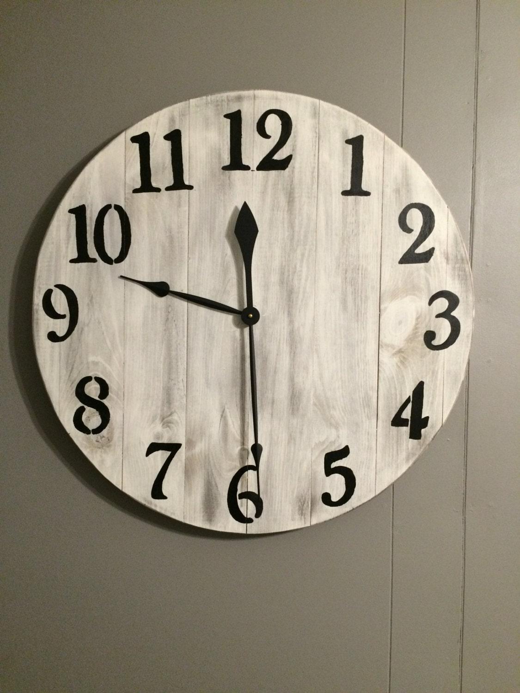 Shabby chic farmhouse clock