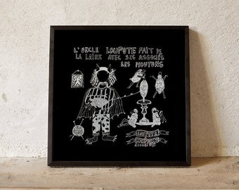 Child book Loupote silkscreen poster
