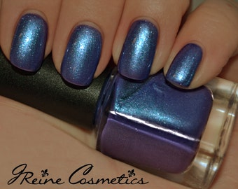 Chiller - Purple Blue with Multicolored Sparkles Nail Polish