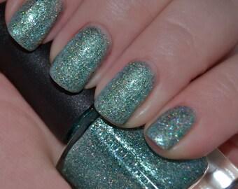 Aquatik - Green Aqua Holographic Glitter Nail Polish