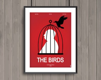 THE BIRDS, minimalist movie poster