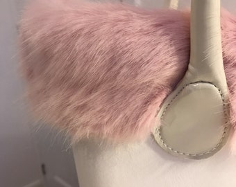 O Bag classic (Grande) & Mini luxury faux fur pink trim only
