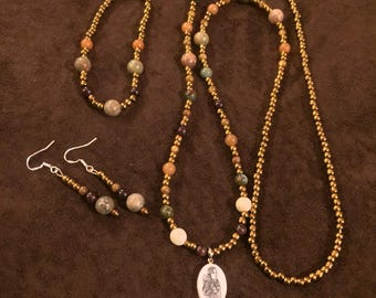 Alaska Native Scrimshaw Jewelry Set (Mom & Baby)