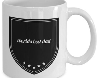 Dad Gift coffee mug - Worlds Best Dad - Unique gift mug for him, dad, husband, boyfriend, men,