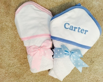 Gorgeous Monogrammed Hooded Baby Towel -- Perfect For Any Baby!