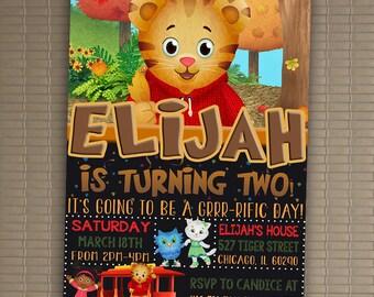 Daniel Tiger Invitation, You Print Invitation, Daniel Tiger Birthday, Daniel Tiger Invite, Daniel Tiger Themed Birthday Party Invite