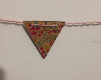 Decoupage Wooden Floral Bunting