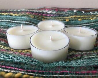 Create Your Own Tealight Sampler, 4 Pack, Soy Tea Lights, Scented Candle Sampler, Soy Wax Candle Samples - Set of (4)