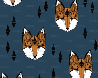 Fox Head Fabric by andrea_lauren