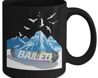 "Snowboarder Gift Mug - ""bailed"" Wipeout"