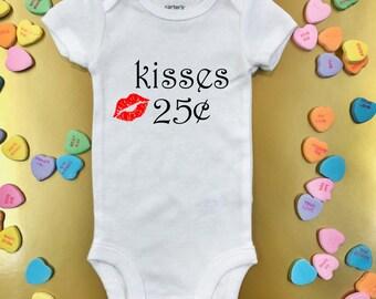 Kisses .25 cents - baby bodysuit