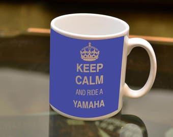 KEEP Calm Ride a Yamaha Sublimation Printed Mug. Ideal for the Yamaha owning Biker and Coffee or Tea lover