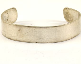 Vintage Graphic Design by Yale Cuff Bracelet 925 Sterling Silver BR 338-E