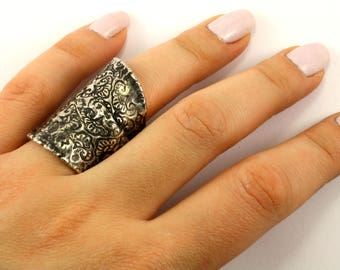 Vintage Women's Scroll Design Ring 925 Sterling Silver RG 252-E
