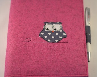Sleeve made of felt OWL with College block A5