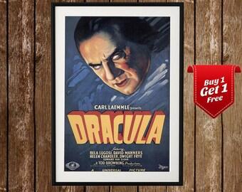 Dracula Movie Print (1931) - Horror Movie Poster, Dracula Poster, Count Dracula, Halloween poster, Dracula Bram Stoker, Dracula print