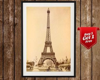 Eiffel Tower Vintage Poster -  Eiffel Tower Print, Tour d'Eiffel, Paris Print, Paris Wall Art, Decor, France Travel , Vintage Eiffel