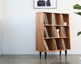BUILTTOORDER / JAX Exotic Zebrawood Vinyl Storage Solution - Holds Up To 800 Records