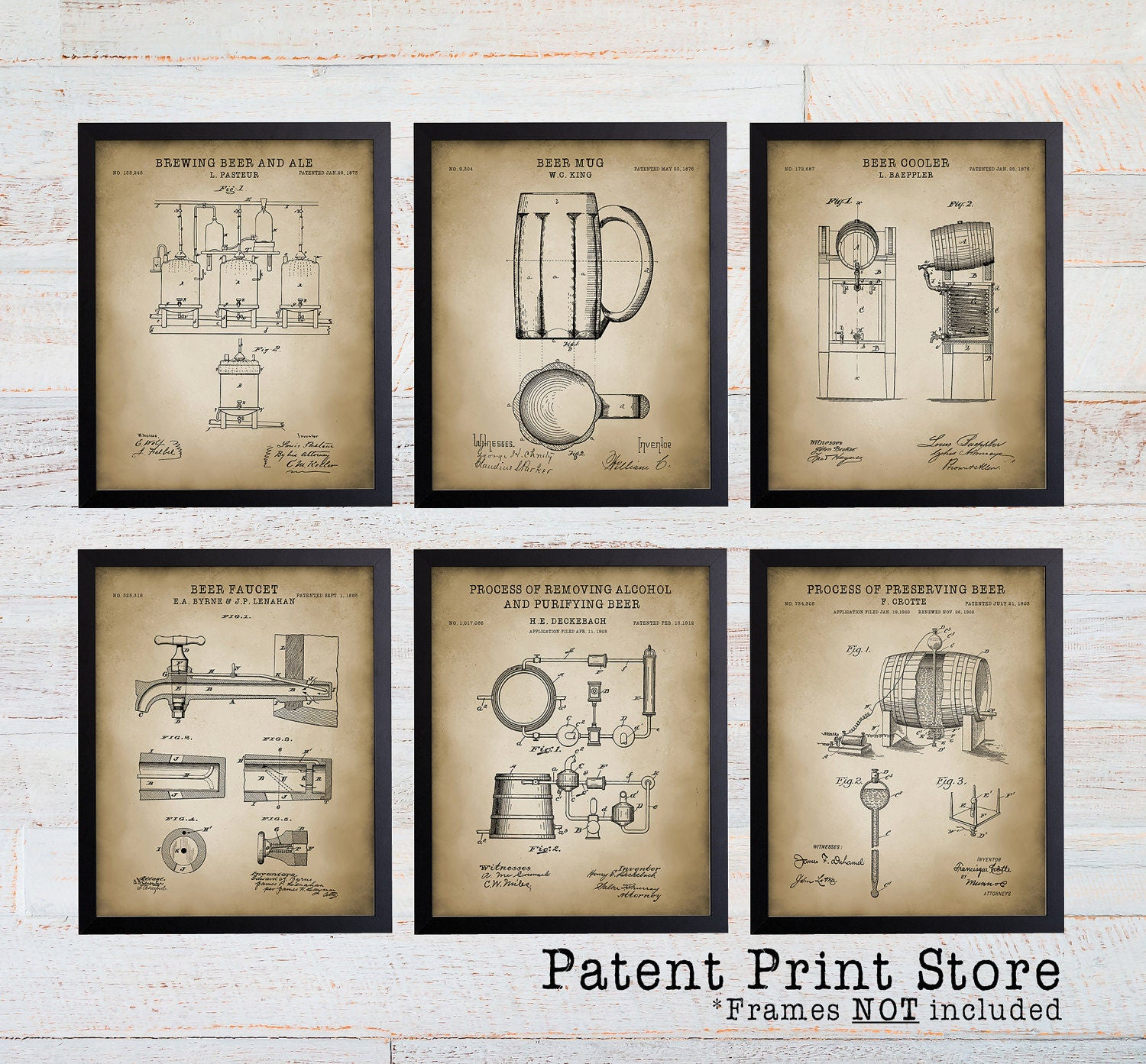 Beer Making Patent Prints. Patent Art. Beer Patent Wall Art