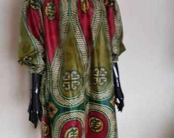 Ankara dress/African clothing/wax print/off shoulder summer dress