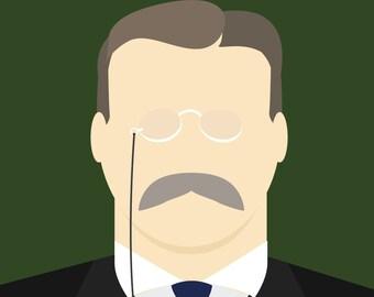 Minimalist Teddy Roosevelt