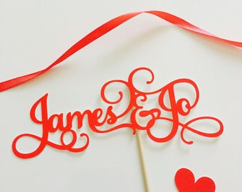 Couple Topper, Wedding Topper, Personalized Name Topper for Wedding