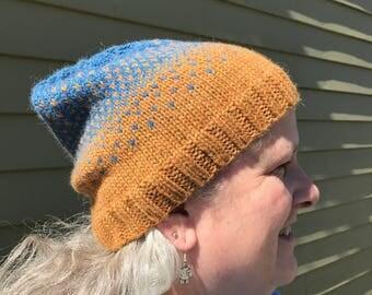 Blue Orange Ombre Slouch Hat