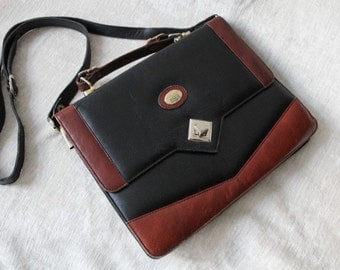 Leather handbag/shoulder bag - vintage