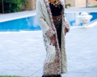 Handmade, Full-Length Italian Wool Sweater/Coat