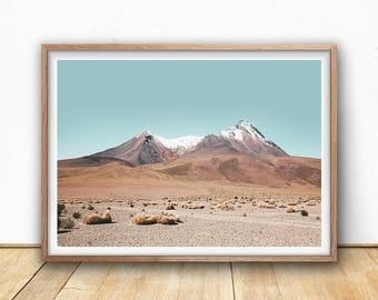 Mountain Print - Landscape Photography, Digital Download, Boho Prints, Desert Wall Art, Arizona Poster, South western Decor, Bohemian Prints