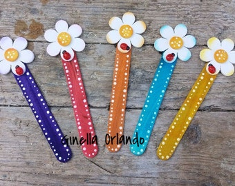 5 Bookmarks set assorted colors
