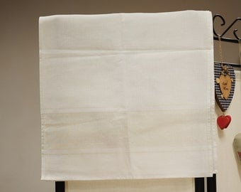 Linen kitchen tea towel / Golden lurex