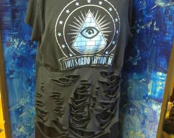 Illuminati Distressed Fallout Rag Doll Dress