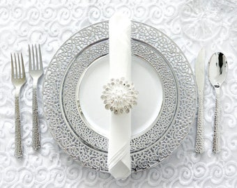 Inspiration Collection Silver Party Package Service for 120 Guests