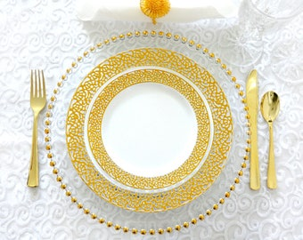 Inspiration Collection Gold Party Package Service for 80 Guests