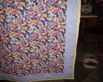 Butterfly Couch Throw or Twin size Quilt
