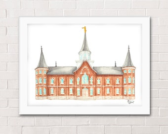 Provo City Center Utah LDS Temple Painting - Archival Art Print