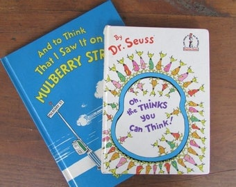Children's Books Dr. Seuss Book Set Early Readers Mulberry Street Oh The Thinks You Can Think
