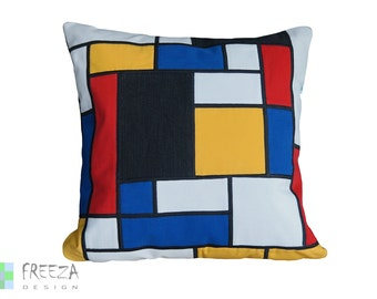 Patchwork pillow cover handmade eco-friendly