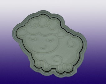 Lamb Cookie Cutter and Stamp