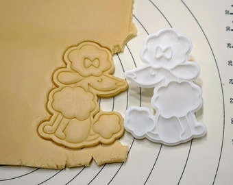 Pretty Poodle Cookie Cutter and Stamp