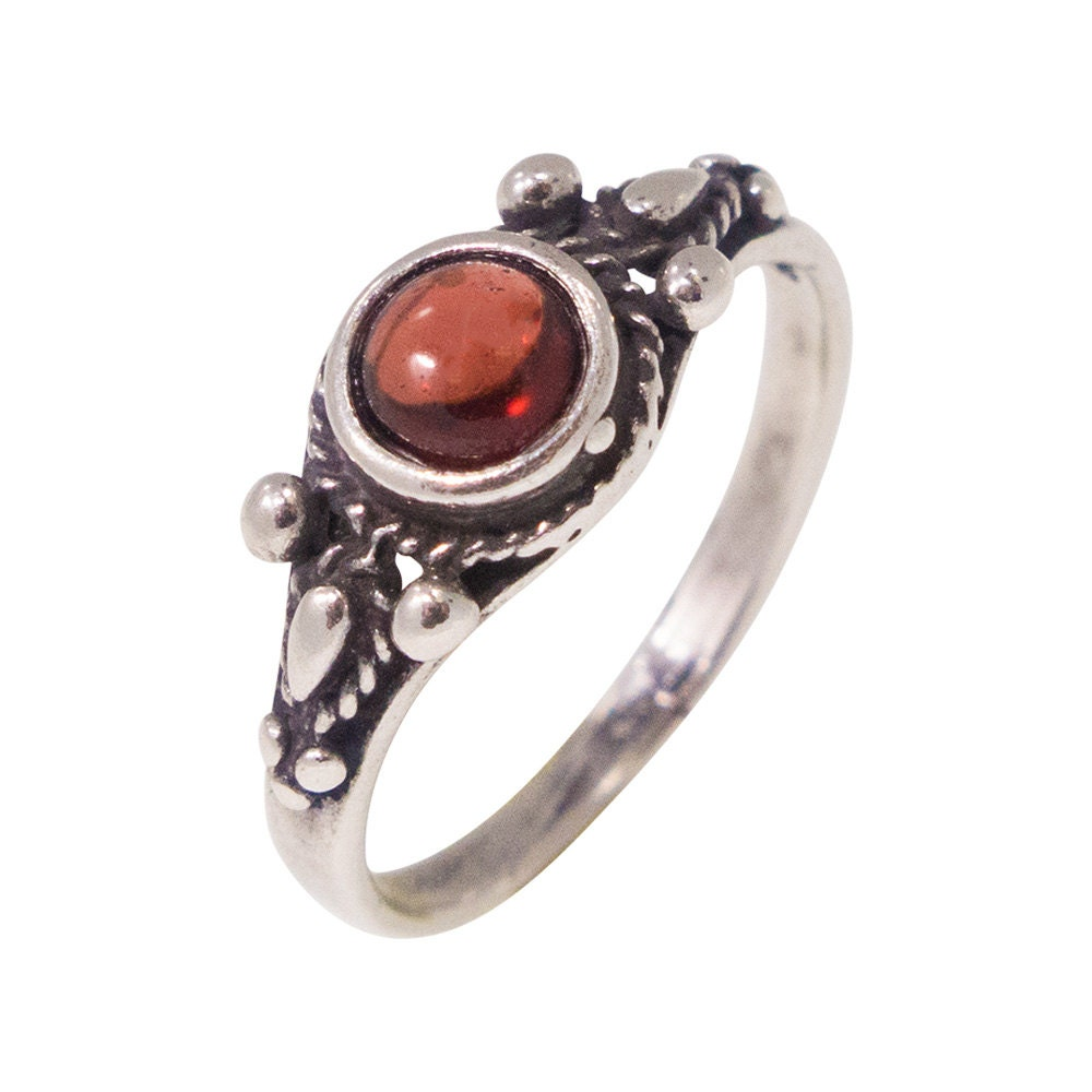 garnet ring silver garnet ring garnet silver ring silver