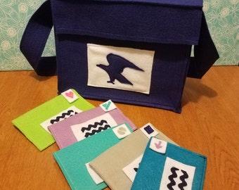 Felt Mail Bag and Envelopes