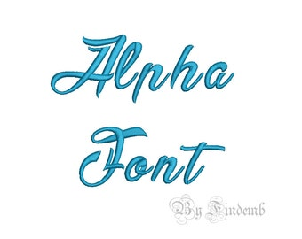 Alpha Embroidery Font Designs 5 size Instant Download