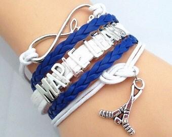 Infinity Love Bracelet TORONTO MAPLE LEAFS sport fans hockey friendship bracelets